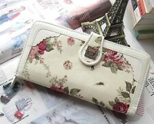 Brand New Lady Long Anna Sui Romantic Rose Purse Wallet