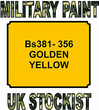 BS381-356 YELLOW MILITARY PAINT METAL STEEL HEAT RESISTANT ENGINE  VEHICLE