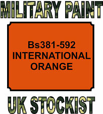 INTERNATIONAL ORANGE MILITARY PAINT METAL STEEL HEAT RESISTANT ENGINE  VEHICLE