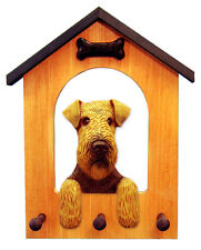 Welsh Terrier Dog House Leash Holder. In Home Wall Decor Wood Products & Gifts.