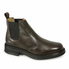 Roamers Mens Twin Gusset Padded Soft Leather Chelsea Dealer Boots Brown 6-12 New