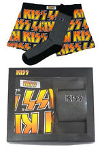 KISS: Classic Logo Boxer Shorts & Socks Gift Set - New & Official In Box
