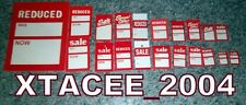 Sale Clearance Clothing labels swing tags PRICE ticket Choose Size Style amount