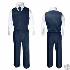 New Baby Boy & Toddler Wedding Easter Formal Party Vest NAVY Suit S M L XL 2T-14