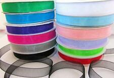 "25 yards Spool Sheer Organza 3/8"" Ribbon 9mm/Craft/Wedding OR38-Roll 12 Colors"