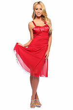 Designer Satin & Mesh Fabric Strap Evening Party Prom Bow Cocktail Dress H1306