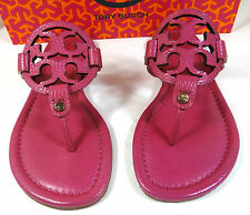 Tory Burch Miller Pink Tumbled Leather Thong Sandal 5 to 11