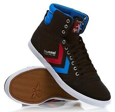 Hummel Slimmer Stadil High Canvas Black Red Blue New Mens Trainers Shoes Boots
