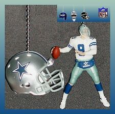 NFL DALLAS COWBOYS TONY ROMO FIGURE & RIDDELL HELMET CEILING FAN PULLS