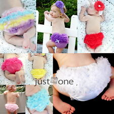 Cute Baby Girls Pettiskirt Ruffle Panties Briefs Bloomer Diaper Cover Sz-S 6-24M