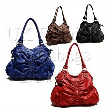 NEW HOBO STUDS PLEATED SHOULDER BAG / HANDBAG