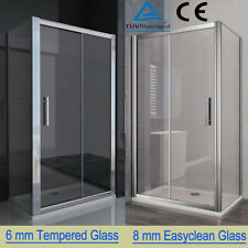 Quality Sliding Shower Enclosure Door Cubicle Side Panel Stone Tray Free Waste A
