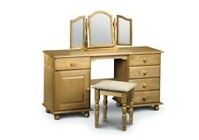 Pickwick Solid Pine Wood Bedroom Range Dressing Table - Single Or Twin Pedestal