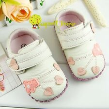 New Cow leather Toddler Baby shoes soft-soled Prewalker(H98)size 3 4 5 6