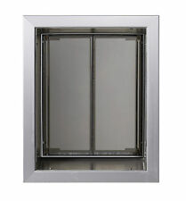 """Plexidor Dog Cat Pet Door for solid Walls up to 12"""" Thick Quiet dual thermo-pane"""