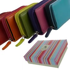 New Ladies Compact Leather Purse / Wallet by Visconti Gift Boxed 5 Colours GIFT