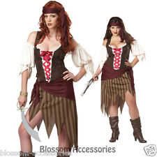 C136 Buccaneer Beauty Sexy Pirate Wench Swashbuckler Fancy Dress Adult Costume