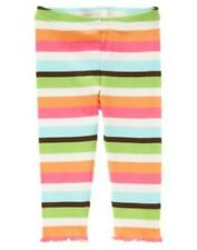GYMBOREE GROWING FLOWERS COLOR STRIPE LEGGINGS 3 6 12 18 24 2T 3T 4T 5T NWT