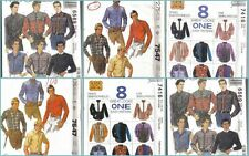 OOP Mens Country Western Cowboy Shirt McCalls Sewing Pattern UC Free Shipping