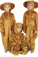 Teddy Bear Costume Brown Fur Three 3 Bears Kids Childs World Book Day Outfit