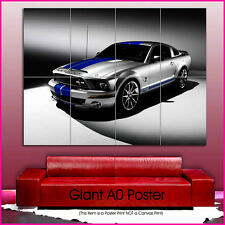 cars0187 Ford Mustang Shelby Cars Giant Wall Art Poster A0