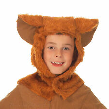 Animal Hood Costume Hat Ears Childs Kids World Book Day Outfit Lion Bear Wolf
