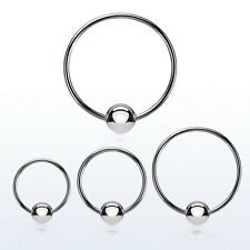 "PAIR 14g~9/16"", 5/8"", 3/4"" 316L Surgical Steel Captive Bead Ring Ball Closure"