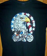 """ RED WHITE & BLUE AMERICAN PRIDE CHOPPER "" Sz SM - 6XL  Eagle & Stars"