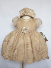 New Baby Girl & Toddler Wedding Easter Formal Party Dress Taupe size: S M L XL