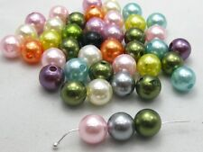 100 Pcs 10mm Faux Pearl Round Beads Imitation Pearl Pick Your Colour