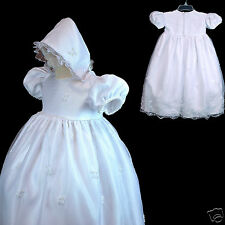 New Baby Girl Toddler Christening Baptism Church Formal Gown Dress White 0M-30M
