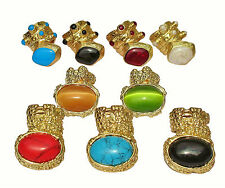 Nettie Frolic ARTY RINGS GOLD KNUCKLE ARMOUR CELEBRITY RINGS