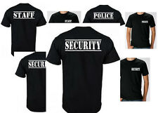 STAFF, POLICE, SECURITY, PARTY WORK SHIRT BLACK