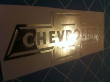 CHEVY Decal Sticker Shiny Chrome pick size worldwide shipping!
