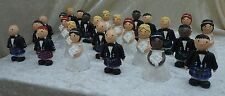 "Mix & Match ""Tartan Tops"" Bride & Groom with Kilts Wedding Cake Toppers"