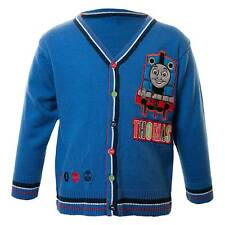 Boys Thomas The Tank Engine Long Sleeved Cardigan Navy Blue 1-4yrs