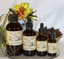MILKY OAT TOPS Liquid Tincture Extract  ~depression,anxiety, 4 sizes