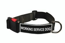 Dog Collar With Velcro Patches Working Service Dog