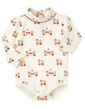 GYMBOREE GINGERBREAD GIRL IVORY COOKIE TURTLE NECK BODYSUIT 0 3 6 12 18 NWT