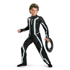 Child Video Game Disney Movie Tron Legacy Deluxe Virtual User Jumpsuit Costume