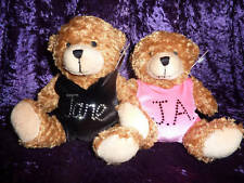 TEDDY BEAR wearing a PERSONALISED Lilac Lizard Gymnastic LEOTARD