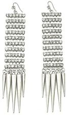 New Dangle Earrings Iced Out 5 Inch Drop Paparazzi Gaga Basketball Wives Style