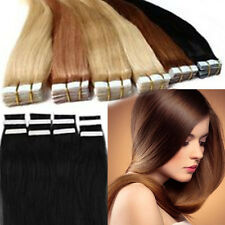 Factory Price Tape in Soft 100% Real Human Remy Hair Extensions Straight Hair