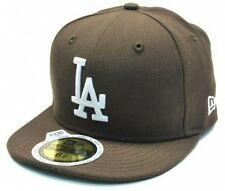 NEW ERA 59FIFTY CAP CHILDREN SIZE LOS ANGELES DODGERS BROWN FITTED BASEBALL HAT