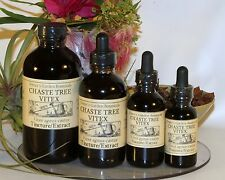 CHASTE TREE BERRY Tincture Liquid Extract  ~ VITEX menstrual disorders,~ 4sizes
