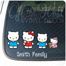 Hello Kitty Family Stick Figure Vinyl Car Decal Sticker