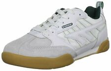 Hi-Tec Men's Squash Classic Suede Sports Trainers Shoes White/Green UK 6-15
