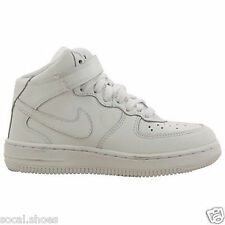 NIKE AIR FORCE 1 MID (PS) ALL WHITE KIDS ATHELETIC SHOES 314196/112 - 113