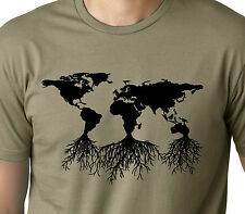 Earth Roots Environmental T-shirt Earth day Tee Nature