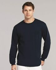 Gildan Ultra Cotton Long Sleeve T-Shirt with a Pocket 2410 S-5XL NEW